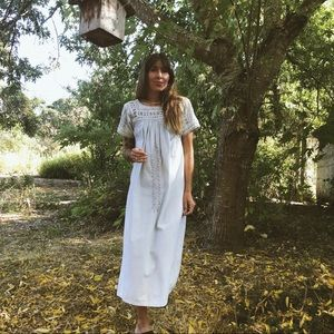 Pastel Blue 70's Prairie Dress